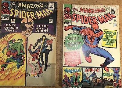 Amazing Spider-Man #37#38 (1966,Marvel) Silver Age VG 4.0 Free Ship Key Issues