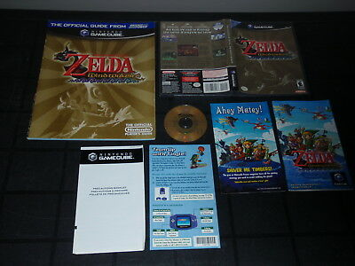 Legend of Zelda The Wind Waker Nintendo GameCube Game Complete w/Guide