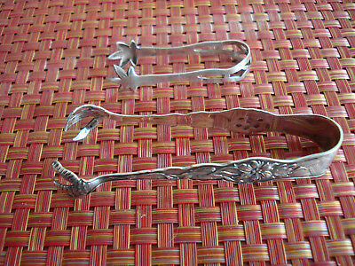 (2) Antique Sterling Silver Sugar Tongs Unger Bros. & Webster Silver