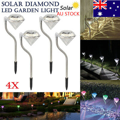LED Solar Garden Stake Lights Path Walkway Patio Lawn Decor Outdoor Lamp Post