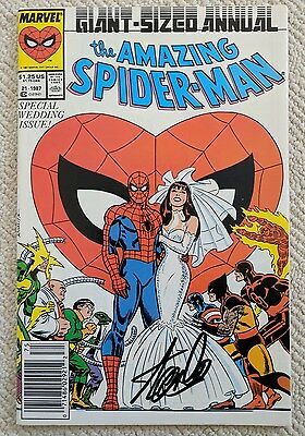 Stan Lee Autograph Signed The Amazing Spider-Man Giant-Sized Annual COA