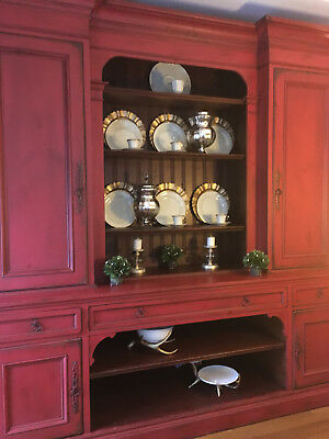 Habersham Plantation European style dining room cupboard hand made solid wood