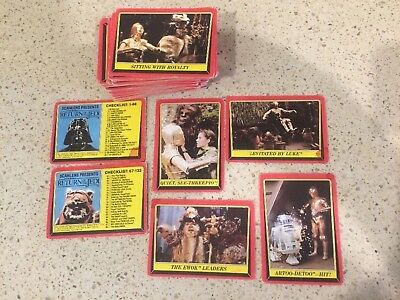 1983 Return of the Jedi collector cards