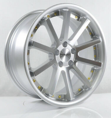 4pcs KD DESIGN 17 inch Mag Wheels Rim 5X100 Alloy wheel Car Rims SILVER -3