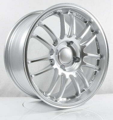 4pcs RE30 17 inch Mag Wheels Rim 4X114.3 Alloy wheel Car Rims SILVER -3