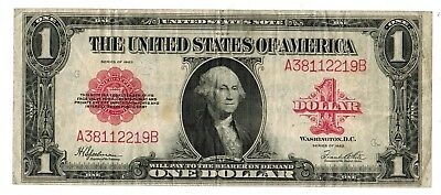 1923 U.S. $1 LARGE SIZE RED SEAL LEGAL TENDER NOTE #FR40 (gdc)