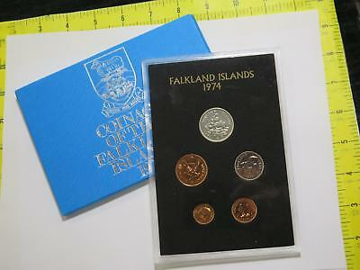 Coinage Of Falkland Islands 1974 Proof Set Type Old World Coin Collection Lot