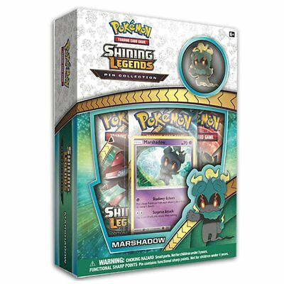 POKEMON TCG Shining Legends Pin Collection Marshadow includes 3 booster packs