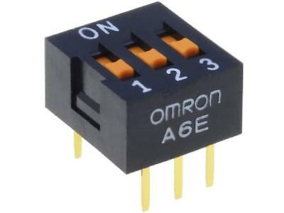 A6E-3101 Switch DIP-SWITCH Poles number3 ON-OFF 0.025A/24VDC 100MΩ A6E-3101-N