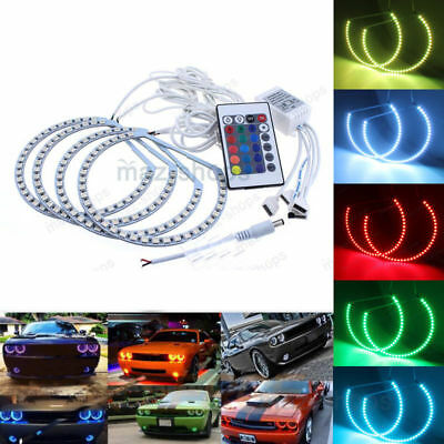 Multi-Color RGB Halo Ring LED Angel Eye For Dodge Challenger Headlight 2008-2014