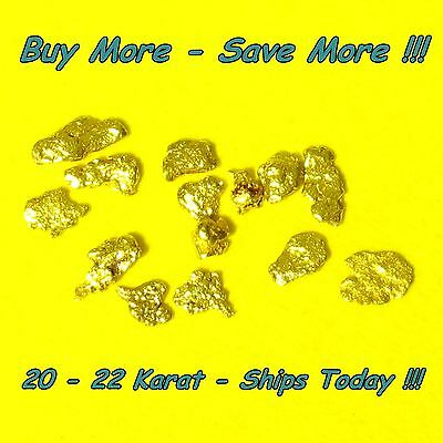 .100 Gram Alaskan Placer Gold Nuggets Flakes Fines Alaska Bering Sea Natural Raw