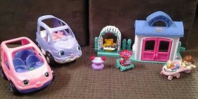 Fisher Price Little People House, Garden, car mixed set