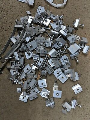 Solar Panel Rail MIX End & Mid ClampS 5Kg MIX NUTS BOLTS WASHERS GRAB AN OLD BAG