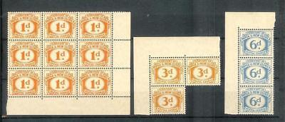 Papua    New   Guinea    Old   Postage   Dues   Selection    Mnh**