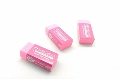 Faber Castell Dust Free Pink Erasers 3pack for Art Drawing