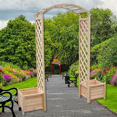 melko holz rosenbogen pergola torbogen rankhilfe spalier blumenk bel rankgitter eur 75 40. Black Bedroom Furniture Sets. Home Design Ideas