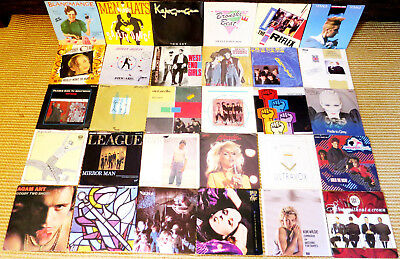 "30 Singles 80er New Wave Synthie Pop Oldies 7"" Schallplatten Musikbox 45 vinyl"