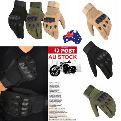 AU Full Finger Tactical Gloves Sports Military Hiking Shooting Motorcycle Gloves