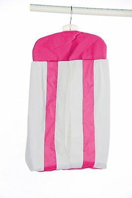 Baby Doll Bedding Modern Hotel Style Diaper Stacker, Hot Pink