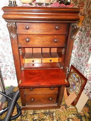 Rosewood Duke of Wellington Chest of Drawers Bureau with 7 Drawers