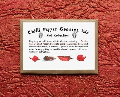 Chilli Pepper Growing Kit - Superhot Collection