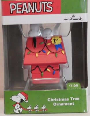 "New In Box 2016 Hallmark ""snoopy Laying On His Doghouse"" Christmas Tree Ornament"