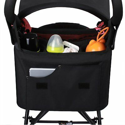 Stroller Organizer Diaper Tote Bags with Cup Holder, Extra Storage Space for