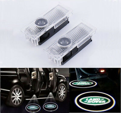 2x LED Door Light Land Rover Discovery 3 / 4 Projector Puddle Shadow Laser Logo
