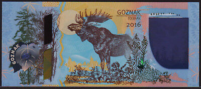 POLYMER Test Note GOZNAK Russia 2016 with many window features