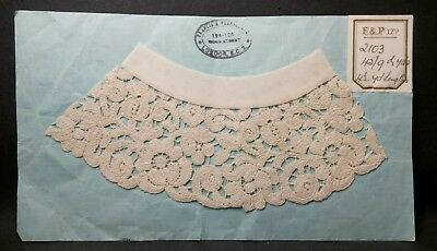 Lovely Intricate Victorian Lace Sample Francis & Pearse No 2103  03