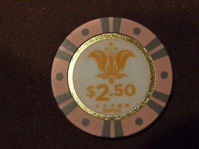 Sunshine Live Casino Saipan $2.50 Casino Chip Rare chip from the Mariana Islands