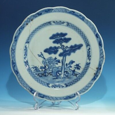 18th / 19th Century Antique Chinese Handpainted Underglazed Blue Plate.
