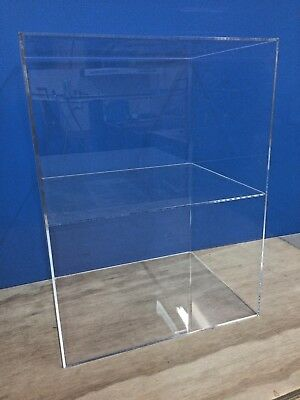 "Acrylic Lucite Countertop Display ShowCase Cabinet 12"" x 9.5"" x 16""h 1 shelve"