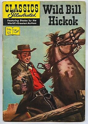 GOLDEN AGE Classics Illustrated # 121 HRN 122 Original Hickok Western FN+ 6.5