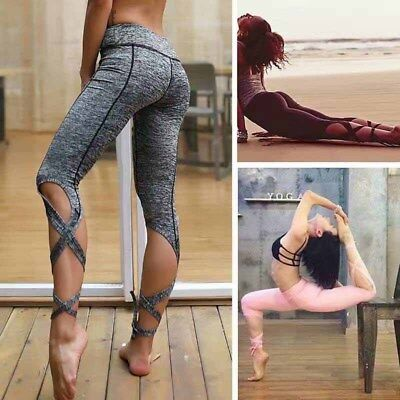 New Womens Winding Fitness Yoga Pants Gym Jogger Ballet Sports Trousers Dance