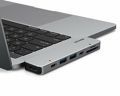USB-C Hub für MacBook Pro 2017/16 | Thunderbolt 3 Dock Aluminium USB 4K HDMI SD