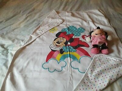 minnie mouse baby blanket and soft toy
