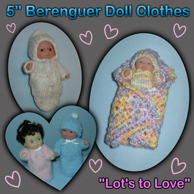 """""""Lots to Love"""" BERENGUER 5"""" Baby Doll or Clothes Handmade by the Crafty Grandmas"""