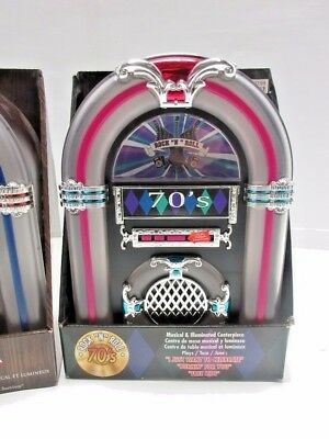 70s ROCK & ROLL JUKEBOX Musical Collectible Illuminated Classic Music Box - NEW