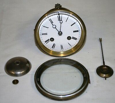 Antique Japy Freres Complete Clock Movement for Parts or Repair