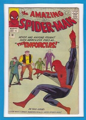 AMAZING SPIDER-MAN #10_MAR 1964_VG/F _1st APP BIG MAN & ENFORCERS_STEVE DITKO_UK