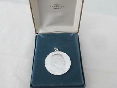 Sterling .925 Gerald Ford Inauguration Pendant Franklin Mint  AUG 9, 1974 IN BOX