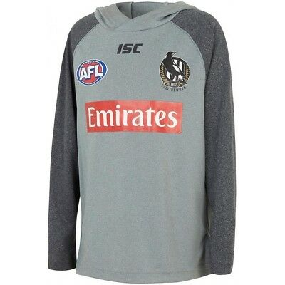 Collingwood Magpies AFL 2018 ISC Players Warm Up Top/Hoody Size S-5XL! IN STOCK