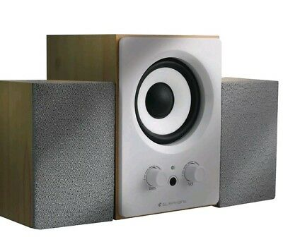Elephant Environmentally Friendly Wooden 2.1 USB Portable Speaker system for TV,