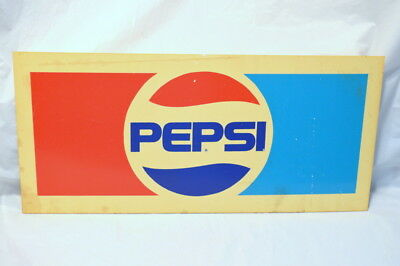 "Vintage Pepsi Plastic Advertising Sign - 14"" L x 6 1/2"" H"