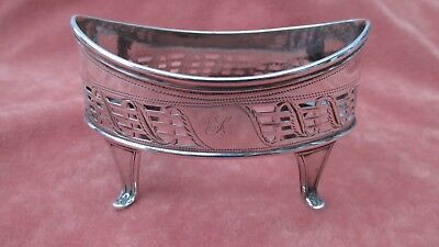 A Superb Large Solid Silver George 111 Oval Salt / Mustard Body HM London 1804