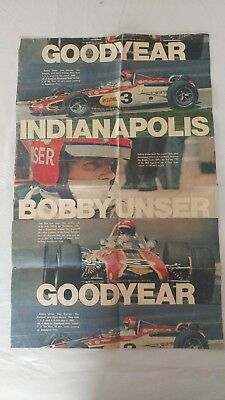 1968 Goodyear Tire Ad Bobby Unser Indianapolis 500 Winner Akron Beacon Journal