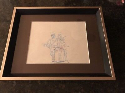 1985 Star Wars Droids Lucas Films Framed Concept Art