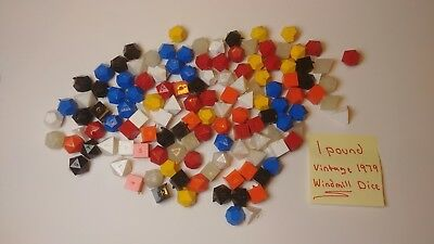 Vintage 1979 Windmill Uncut Dice - 1 Pound of Hard to Find Dungeon & Dragon D&D