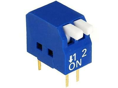 2x DP-02 Switch DIP-SWITCH Poles number2 ON-OFF 0.05A/12VDC -20÷70°C